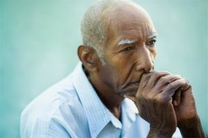 400-06200435 © diego_cervo Model Release: Yes Property Release: No Seniors portrait of contemplative old african american man looking away. Copy space